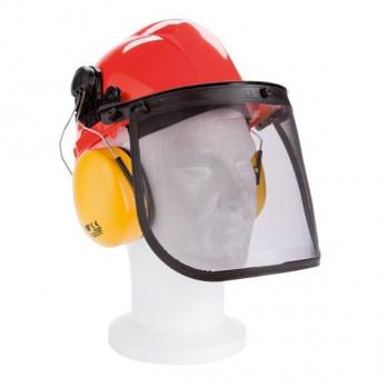 CASQUE DE PROTECTION visière et oreillette anti-bruit