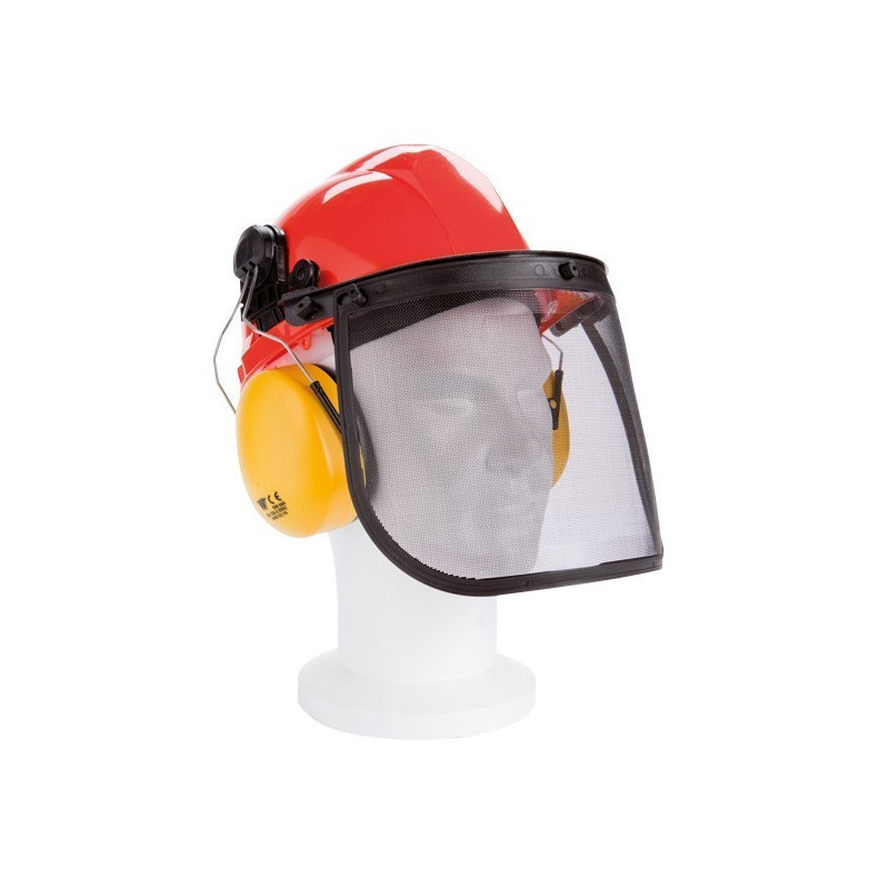 casque de protection visi re et oreillettes anti bruit 27 50. Black Bedroom Furniture Sets. Home Design Ideas