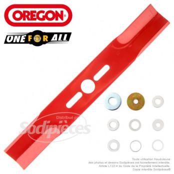 Lame universelle droite 40 cm Orégon + rondelles