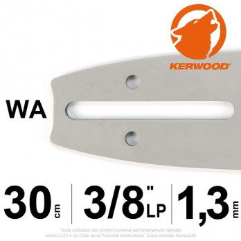 "Guide KERWOOD - 30 cm 3/8"" LP 1,3mm WA"