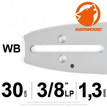 """Guide KERWOOD - 30 cm 3/8"""" LP 1,3mm WB"""