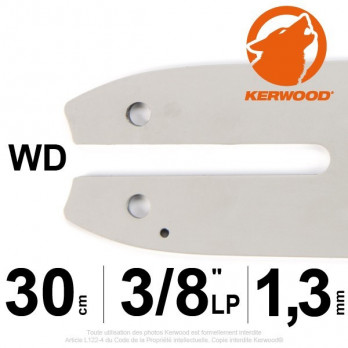 "Guide KERWOOD - 30 cm 3/8"" LP 1,3mm WD"