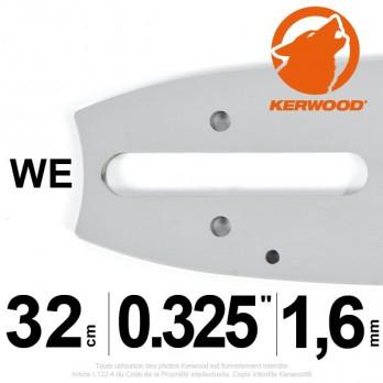 """Guide KERWOOD - 32 cm 0,325"""" LP 1,6mm WD"""