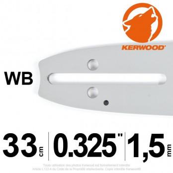 "Guide KERWOOD - 33 cm 0,325"" 1,5mm WB"