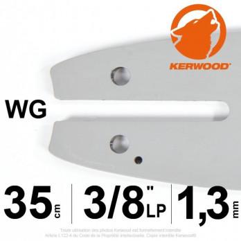 "Guide KERWOOD - 35 cm 3/8""LP 1,3mm WF"