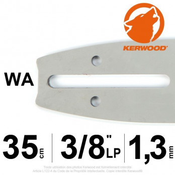 "Guide KERWOOD - 35 cm 3/8""LP 1,3mm WA"