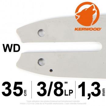 """Guide KERWOOD - 35 cm 3/8""""LP 1,3mm WD"""