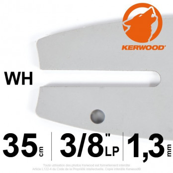 "Guide KERWOOD - 35 cm 3/8""LP 1,3mm WH"