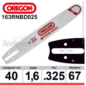 Guide OREGON Power Match D025-40 cm