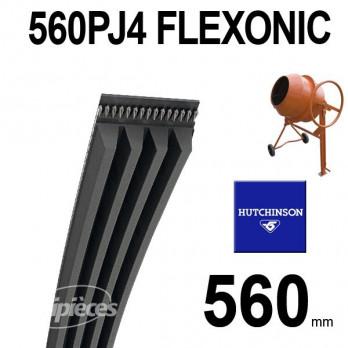 Courroie Hutchinson Poly-V Elastique FLEXONIC 560 PJ4