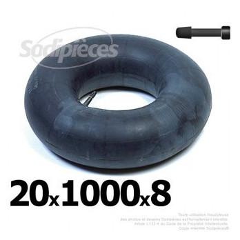 Chambre à air 20 x 1000 x 8 (valve droite)