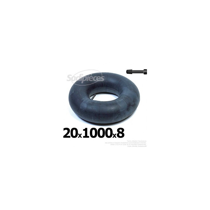 Chambre air 20 x 1000 x 8 valve droite 21 30 for Chambre a air 13 5 6