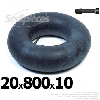 Chambre à air 20 x 800 x 10 (valve droite)
