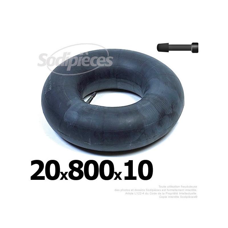 Chambre air 20 x 800 x 10 valve droite 21 60 for Chambre a air 13 5 6