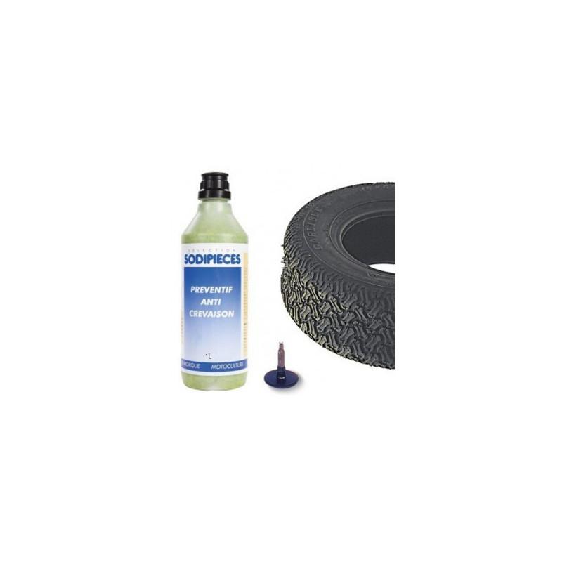 Anti crevaison en pr ventif 1 litre pour roue de tondeuse for Chambre a air 13