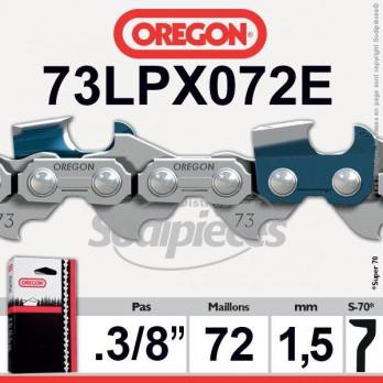 "CHAINE OREGON 73LPX072E SUPER 70 - 3/8"" 1,5mm - 72 maillons"