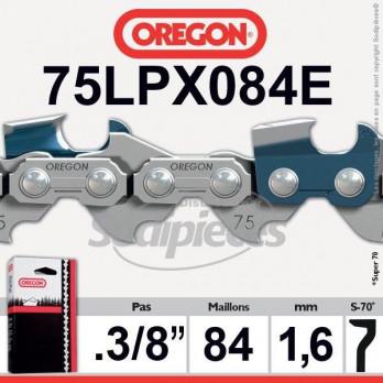 "CHAINE OREGON 75LPX084E SUPER 70 - 3/8"" 1,6mm - 84 maillons"