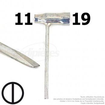 Clé pour bougie 11 et 19