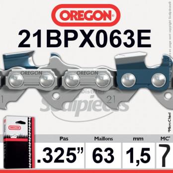 """CHAINE OREGON 21BPX063E - 325"""" 1,5mm - 63 maillons"""