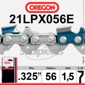 "CHAINE OREGON 21LPX056E Super 20 - 325"" 1,5mm - 56 maillons"