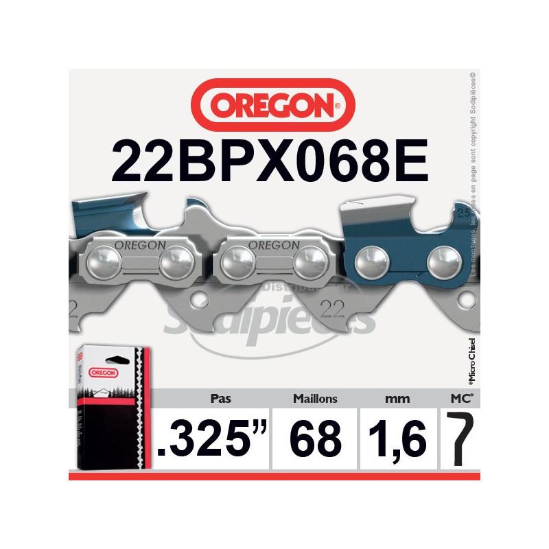"""CHAINE OREGON 22BPX068E - 325"""" 1,6mm - 68 maillons"""
