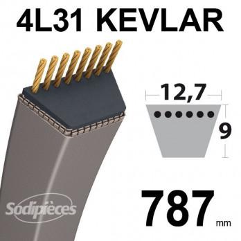 Courroie 4L31 Kevlar - 12,7 mm x 787 mm
