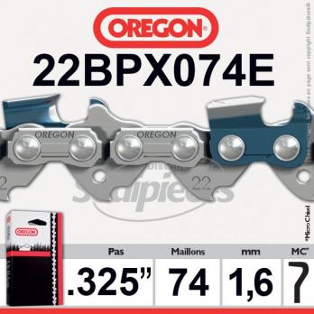 """CHAINE OREGON 22BPX074E - 325"""" 1,6mm - 74 maillons"""