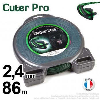 Fil Cuter' Pro ®. Débroussailleuses sous coque 2,4 mm x 86 m.