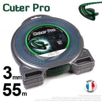 Fil Cuter' Pro ®. Débroussailleuses sous coque 3 mm x 55 m.