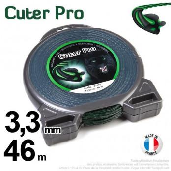 Fil Cuter' Pro ®. Pour Débroussailleuses 3,3 mm x 46 m.