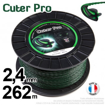 Fil Cuter' Pro ®. Pour débroussailleuses sous coque 2,4 mm x 262 m.