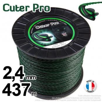Fil nylon Cuter' Pro ®. Pour débroussailleuse Bobine 2,4 mm x 437 m.