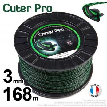 Fil nylon Cuter' Pro ®. Pour débroussailleuses. bobine 3 mm x 168 m.