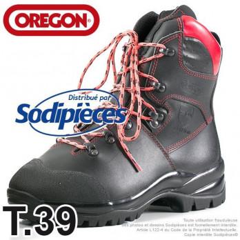 Bottes forestières cuir de protection OREGON® T. 39 à 47