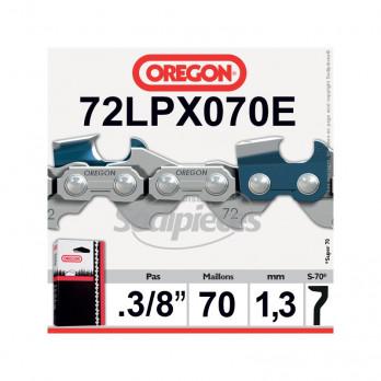 """CHAINE OREGON SUPER 70 - 3/8"""" 1,3 70 maillons 72LPX070E"""