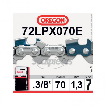 "CHAINE OREGON SUPER 70 - 3/8"" 1,3 70 maillons 72LPX070E"