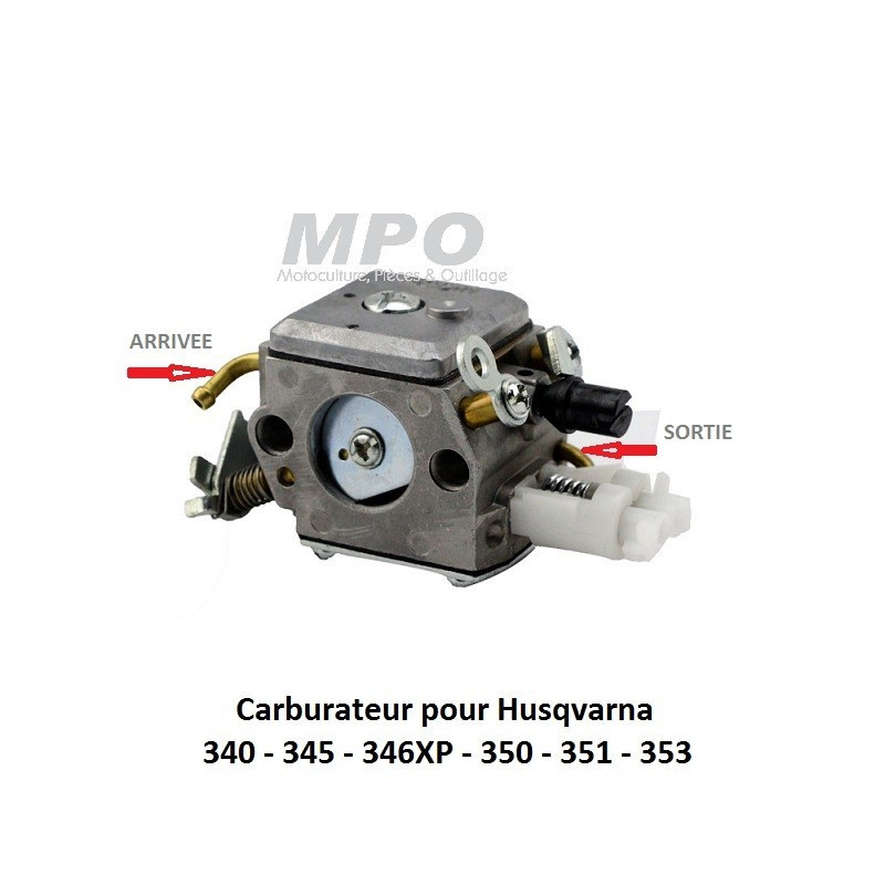 Carburateur Husqvarna 345 346XP 350 351 353 - 43.90€
