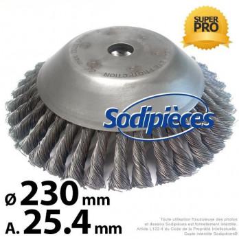 BROSSE CONIQUE pour désherbage - Diam. 230 mm