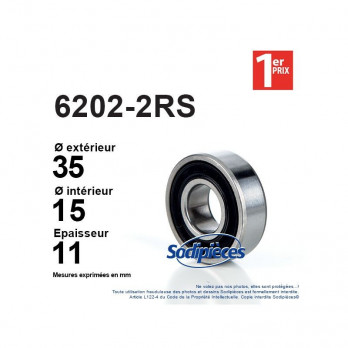 Roulement à billes SKF N° 6202 2RS1