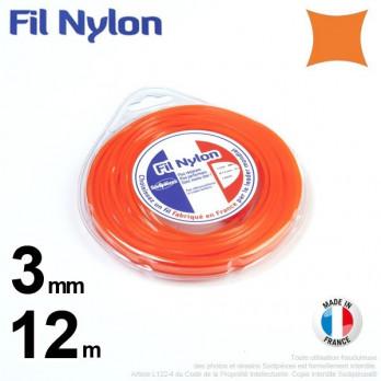 Fil nylon carré.3 mm x 12 m.