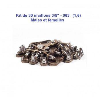 "kit maillons chaines tronçonneuse 3/8"", 0.63 (1.6)"