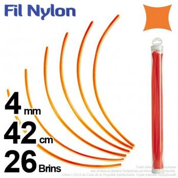Fil nylon carré.4 mm x 42 cm.
