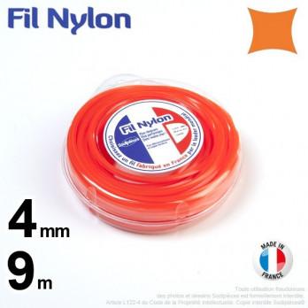 Fil nylon carré.4 mm x 9 m.