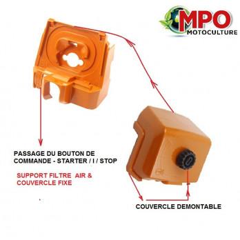 Support filtre à air + couvercle carter carburateur pour Stihl 044 MS440 MS 440