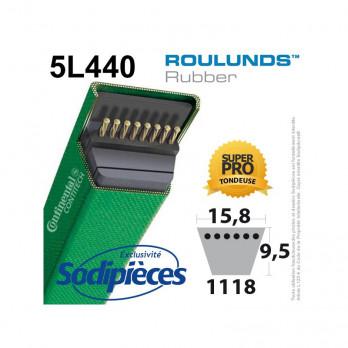 Courroie tondeuse 5L440 Roulunds Continental