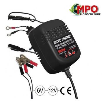 Chargeur batterie 6V / 12 V - 900mA - EXCEL' CHARGE