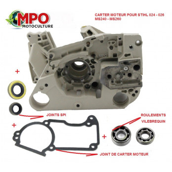 Carter moteur (vilebrequin) pour Stihl 024 026 MS240 MS260
