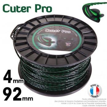 Fil débroussailleuse 4 mm x 92 m Hélicoïdal Cuter'Pro®
