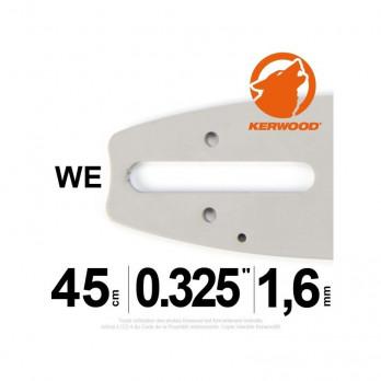 """Guide tronçonneuse 45 cm, 0,325"""" , 1,6 mm, Kerwood"""