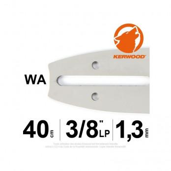 """Guide tronçonneuse 40 cm. 3/8""""LP. 1,3 mm. 56 maillons Kerwood"""